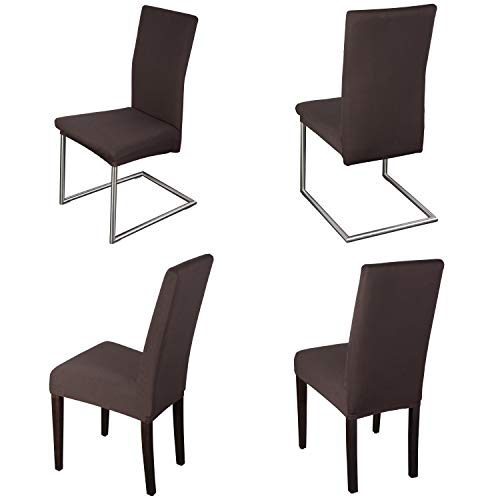 Staboos Stuhlhussen 4er Set aus 96% Baumwolle - Bi-elastische Stretch Stuhlüberzüge - Universal Stuhlbezug - Stuhlabdeckung waschbar &...