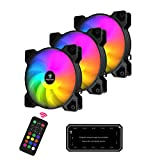Easythreed 120mm PC Cooling Fan RGB Computer Case Fans Quiet High Airflow with 6...