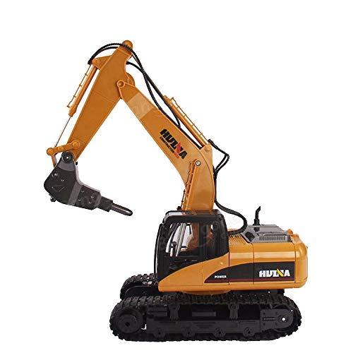 LXWM RC Excavadora 2.4G 1/14 16 CH Excavadora de Ruedas de Metal Desmontaje Roto Micro excavadoras de Carga Excavadora de orugas Modelos de Juguetes RC