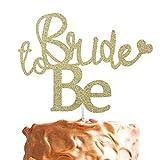Bride to Be cake topper–Glitter Bachelorrette addio al nubilato Swirly–topper per torta con cute Heart Gold