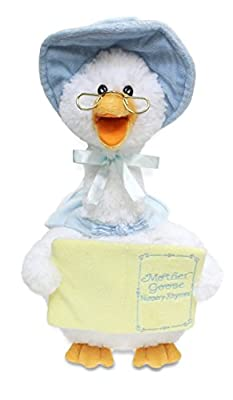 Cuddle Barn Mother Goose Talking Musical Plush Toy Recites Classic Mother Goose Rhymes