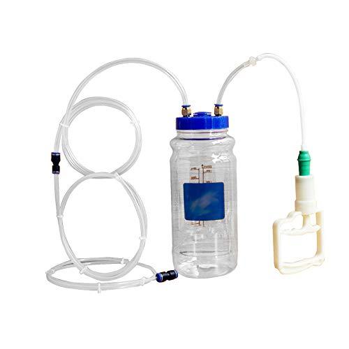 Oyrcvweuy Tragbarer Auto-Ölabsauger, pneumatische Flüssigkeitspumpe, Auto-Ölwechsel-Flasche, Automobil-Kraftstoff, manueller Vakuum-Evakuator