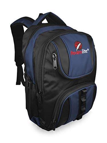 Roamlite Childrens School Backpack - A4 Folder Size Waterproof Multi Pocket Padded Bag - Nylon 44 cm 25 Litre - RL18KN