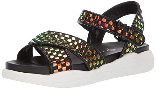 Katy Perry Women's The Pilly Flat Sandal, black, 9 Medium US