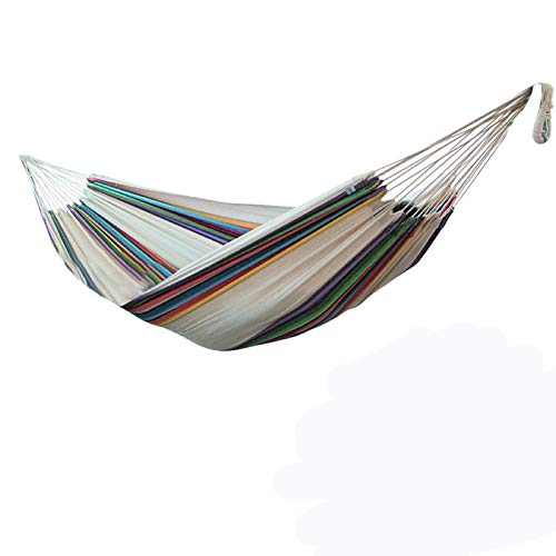 Double Cotton Hammock,Portable Hammock Bed, Double Hammock Swing Bed for Backpacking, Travel, Beach, Yard, Patio, Outdoor(Only Hammock,without Shelf)
