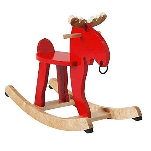 XWX Children Riding Indoor Outdoor Swing Toy Wooden Rocker Arm Rocking Horse Exercise Balance Load 100kg
