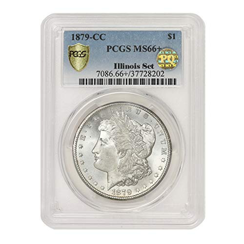 1879 CC American Silver Morgan Dollar MS-66+ PQ Approved Illinois Set by CoinFolio $1 MS66+ PCGS