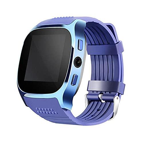zyz T8 Bluetooth Smart Watch 1.54 Pulgadas, Rastreador De Ubicación De Movimiento, con Reproductor De Música De Cámara, Adecuado para Android,Azul