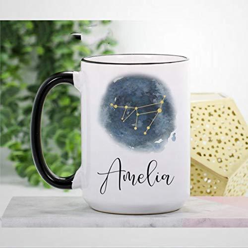 Steinbock-Tasse, Kaffeebecher, Steinbock, Sternzeichen, Geschenke, Neuheit, Keramik, Teetasse, Weihnachten, Geburtstag, Geschenk für Männer und Frauen
