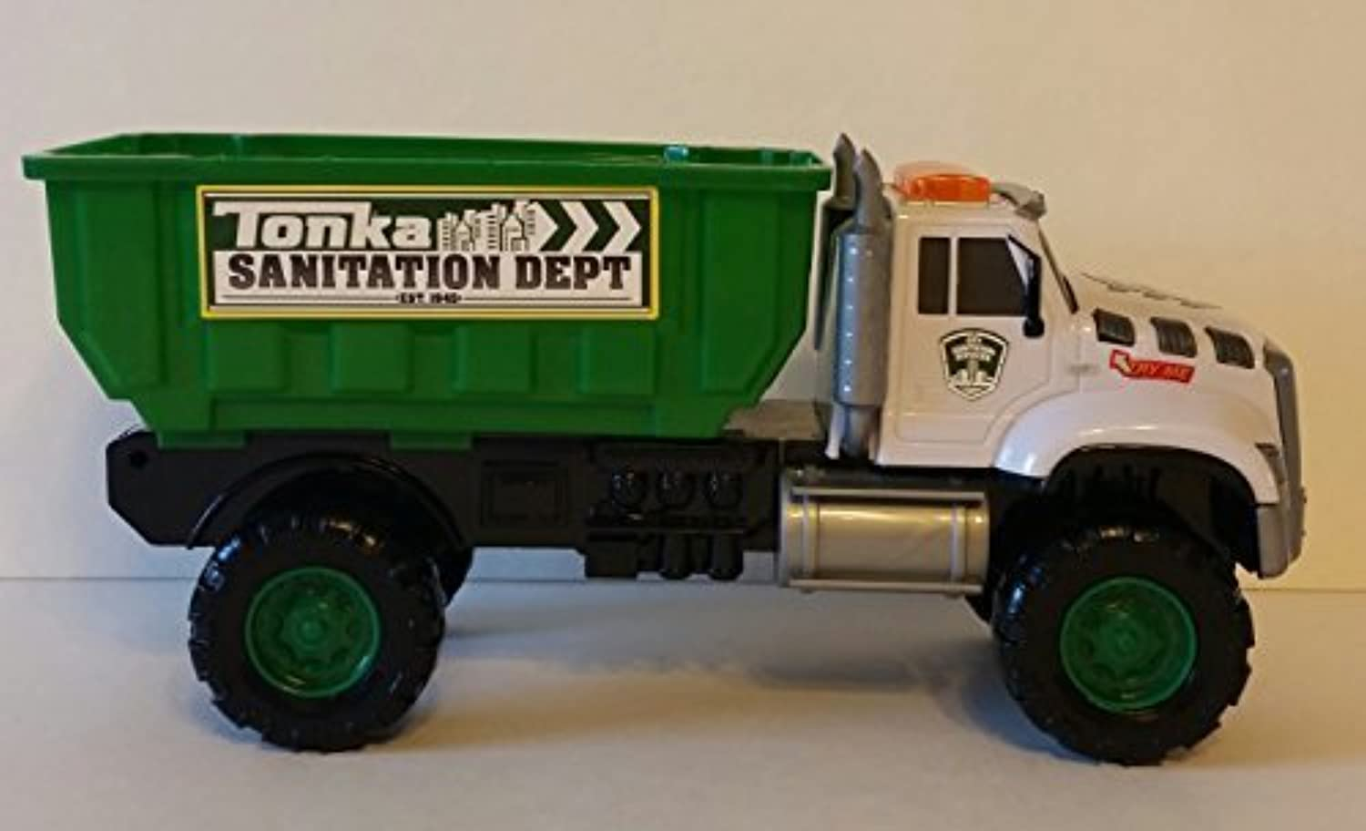 Tonka Rescue Force Garbage Truck Dump Truck With Flashing Lights and Multiple Sounds