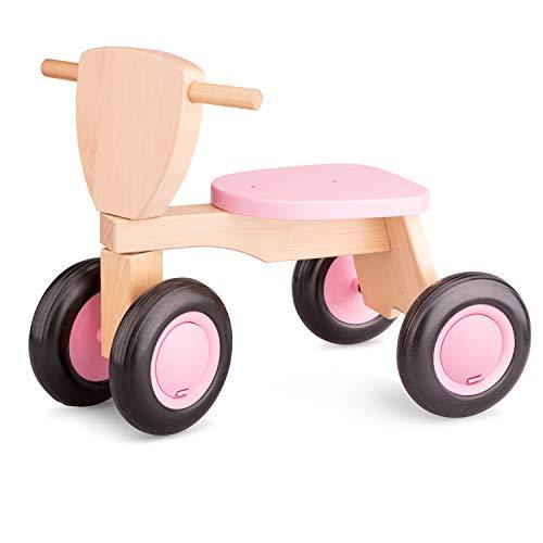 New Classic Toys - 11422 - Spielfahrzeuge - Rosa Rutscher Holz-Sitz-Roller