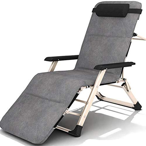 WJJJ Stuhl Liegestuhl für Wohnzimmer Liegestühle Verstellbarer wetterfester Textoline Liegestuhl für Pool unter der Veranda (Farbe: Stuhl + Kissen 1, Größe: 185cm)