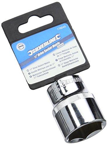 Silverline Tools 178045 - Vaso métrico de 1/2' (25 mm)