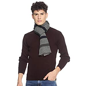 513 Men Acrylic Woolen Casual Winter Wear Striped Knitted Warm Premium Mufflers Grey 4 41Iqvorh6pL. SL500 . SS300