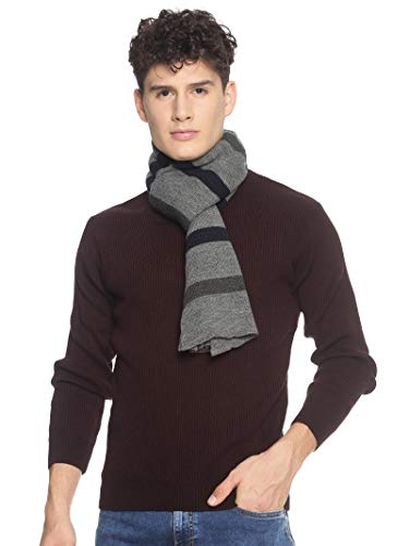513 Men Acrylic Woolen Casual Winter Wear Striped Knitted Warm Premium Mufflers Grey 1 41Iqvorh6pL. SL500
