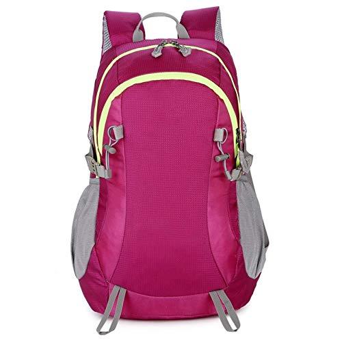 Belleashy - Zaino da campeggio da 30 l, impermeabile, leggero, per campeggio, trekking, viaggi all'aperto (dimensioni: taglia libera; colore: Rosa)