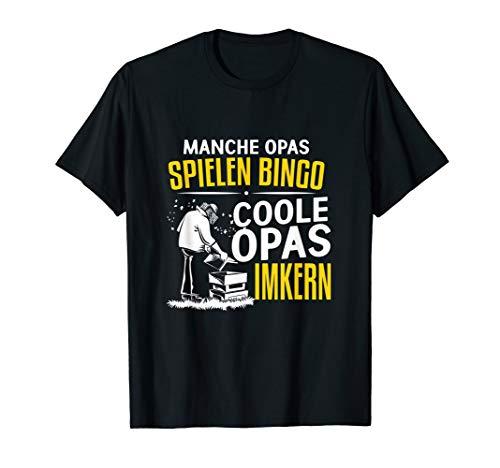 Manche Opas spielen Bingo coole Opas imkern T-Shirt