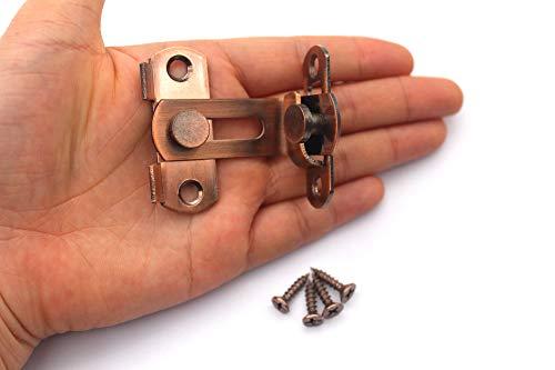 El cerrojo de la puerta 90 Perno Cerradura de la puerta Granero Ángulo recto Doblado Cierre Pestillo Puertas de inodoro y ventanas