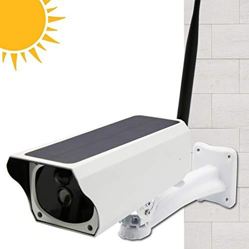 FTSUII bewakingscamera op zonne-energie, 1080P wifi-camera met IP66 waterdichte zonne-bewakingscamera met 10 m nachtzicht, bewegingsdetectie, voor binnen en buiten, iOS en Android