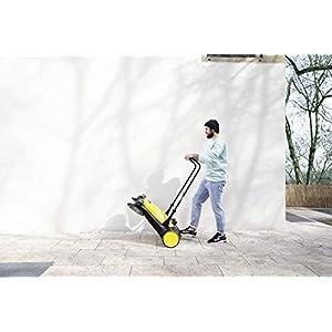 Kärcher Kehrmaschine S 6 Twin (Max. Flächenleistung: 2500 m²/h, Seitenbesen, Kehrbehälter: 38 l, Arbeitsbreite: 860 mm, ergonomisch Schubbügel, selbststehender Kehrbehälter)