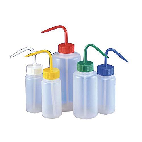 Azlon WGW401PML Wash Bottle, non-venting, collo largo, ipoclorito di sodio, LDPE, Bleach, 500ml (confezione da 5)