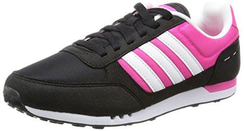 adidas City Racer W, Zapatillas de Deporte para Mujer, Negro (Negbas/Ftwbla/Rosimp), 36 2/3 EU