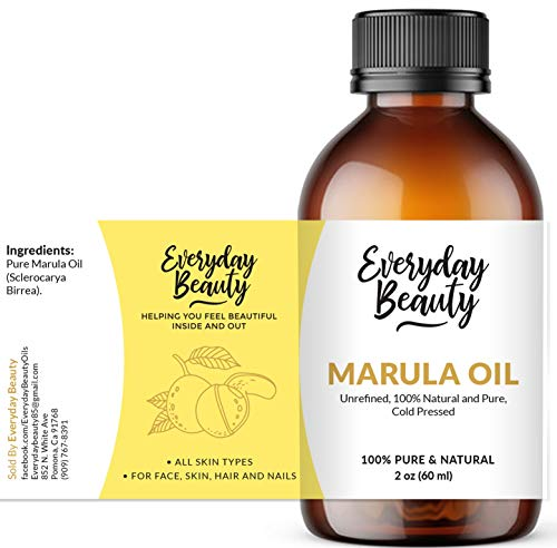 Marula Oil - 100% Pure Extra Virgin Unrefined Luxury Facial Oil 2oz - Cold Pressed & All Natural for Face, Skin and Hair - DIY Cosmetics - Premium Quality Bulk Price