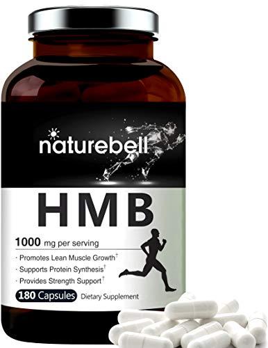 NatureBell HMB Capsules, 1000mg Per Serving, 180 Counts, Supports Lean Muscle Mass, Premium HMB Supplements, Non GMO