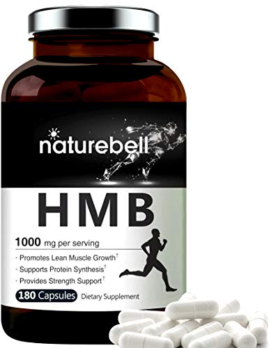 Maximum Strength HMB Capsules 1000mg Per Serving, 180 Counts, Supports Muscle Recovery, HMB Supplements for Men and Women, No GMOs