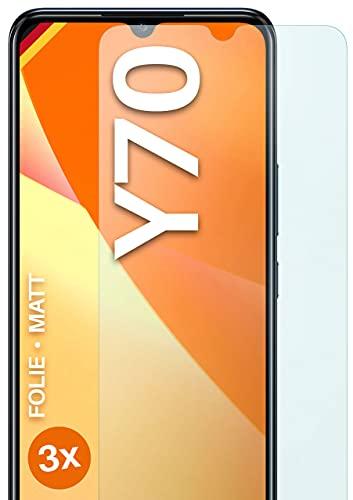 moex Schutzfolie matt kompatibel mit vivo Y70 - Folie gegen Reflexionen, Anti Reflex Bildschirmschutz, Matte Bildschirmfolie - 3X Stück