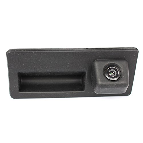 Kalakass Trunk Handle Vehicle-Specific Camera Integrated into Case Handle Rear View Camera for VW A3 A4 A6 A8L VW Tiguan Touareg Sharan Touran Golf Vi Variante(01578=50x110mm)