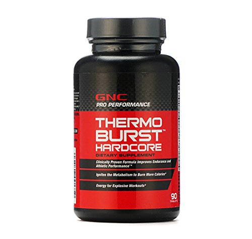 GNC Thermoburst Hardcore - 90 Tablets (Thermogenic Fat Burner)