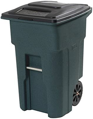 Shipping included Toter Wheeled Trash Can 32 Limited price Green Gal Granite Black Stone