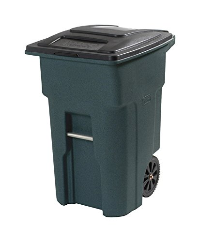 Toter Wheeled Trash Can 32 Gal Black, Granite, Green, Stone