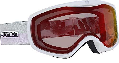 Salomon, Sense, Damen-Skibrille, Weiß (White Flower)/Low Light Red, L40521800