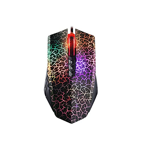 JIRENSH 1 pc Gaming USB Optical Gaming Mouse Colorful Glare Wired Mouse