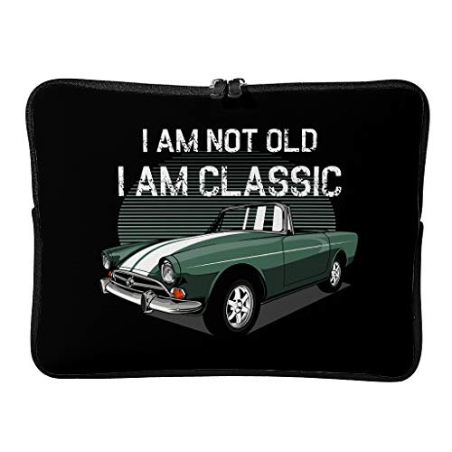 Laptop Bags I Am Not Old I Am Classic Patterned Everyday Reusable - Tablet Protector Suitable for Work White 17 Zoll