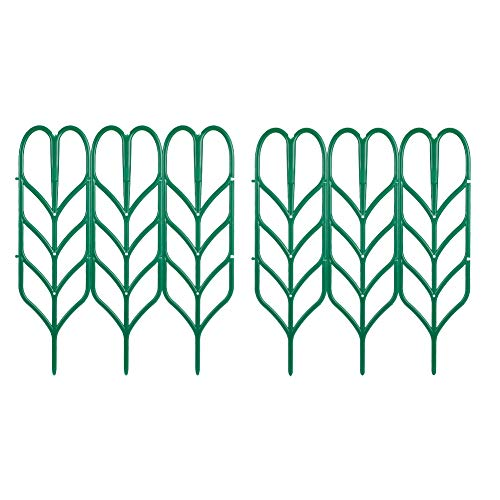 Rubywoo&chili Garden Trellis for Mini Climbing Plants, 6 Pack Leaf Shape DIY Potted Plant Support for Courtyard Garden Indoor Outdoor Climbing Plants