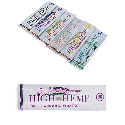 7 Count Variety Pack- Organic Wraps- Vegan, Natural, Non GMO and 100% Tobacco Free- 1 Pack of Each Flavor. Grape Ape, Honey Pot Swirl, Maui Mango, Original, Hydro Lemonade, Blazin Cherry & Bare Berry