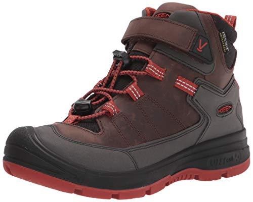KEEN Redwood Mid Height Waterproof Snow Boot, Coffee Bean/Picante, 10 US Unisex Little Kid