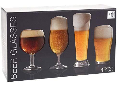 Juego de vasos para degustación de cerveza, 4 unidades