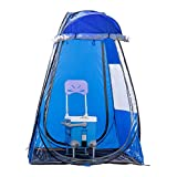 DalosDream Sports Portable Shelter Weather Tent Pop Up Pod Tent Single Person Rainproof & Windproof Doors Privacy Shower Tent for Camping, Biking, Shower, Beach Changing, Chair is not Included (Blue)