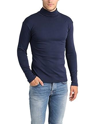 Lower East Camiseta con cuello alto Slim Fit para hombre