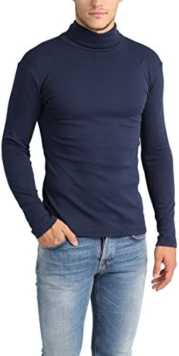 Lower East Camiseta Hombre con Cuello Alto Slim Fit