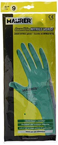"Maurer 15030840 - Guante nitrilo virgen alimentario, 33 cm, talla 9"""
