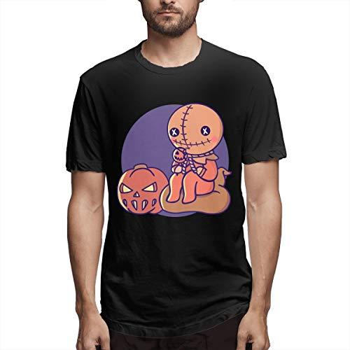 Abigails Home Trick'r Treat Männer Kurzarm T Sport T Shirt Tees Fitness Gym(XL,Schwarz)