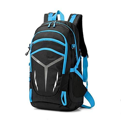 LLTT Sac à Dos étanche Hommes Unisexe Voyage Sports Pack Pack Bag Outdoor Alpinisme Escalade Randonnée Camping Sac à Dos Homme (Color : Blue)