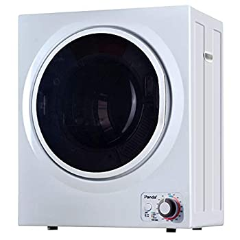 Panda 110V Electric Portable Compact Laundry Clothes Dryer 1.5 cu.ft Stainless Steel Drum Black and White PAN725SF