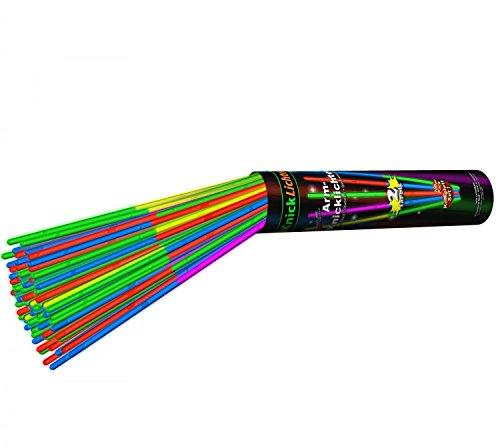 100 bracelets lumineux fluo COULEUR DOUBLE kit complet incluant connecteurs x 100