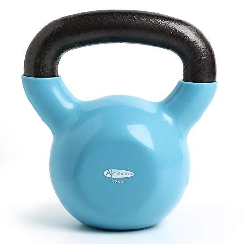 ActiveForever Kettlebells, 4-20KG Neopren-Beschichtete Gusseisen-Kettlebell, Fitness-Kettlebell (Blau, 12Kg)